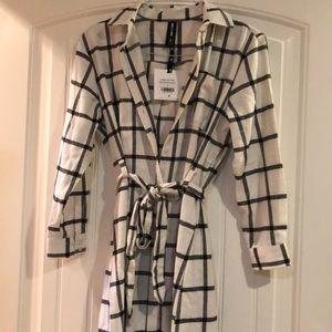 Agnes and Dora Flannel shirt dress